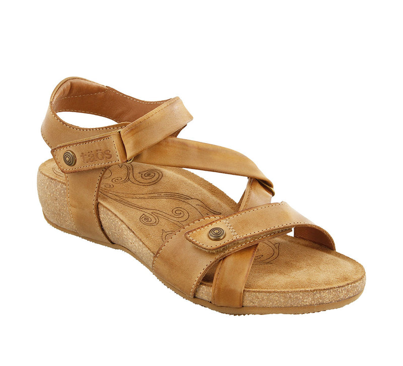 Taos Universe Camel Supportive Leather Sandals