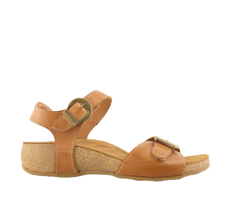 Taos Vera Hazelnut Leather Supportive Sandals