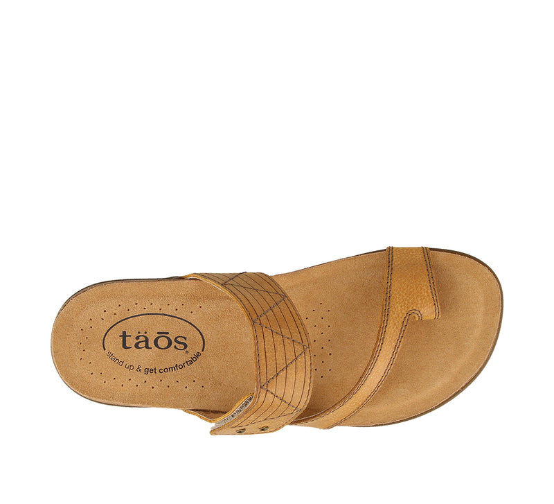 Taos Zone Wheat Leather Supportive Sandals