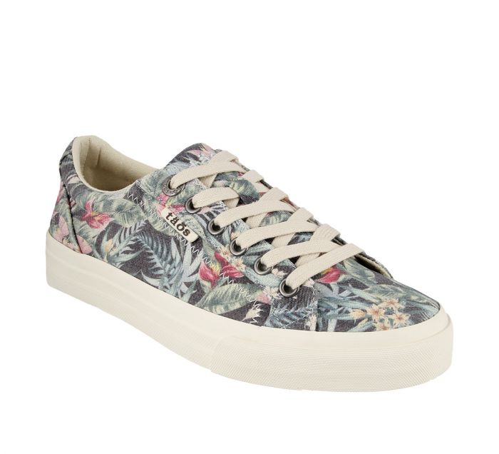 Taos Plim Soul Black Tropic Canvas Sneakers