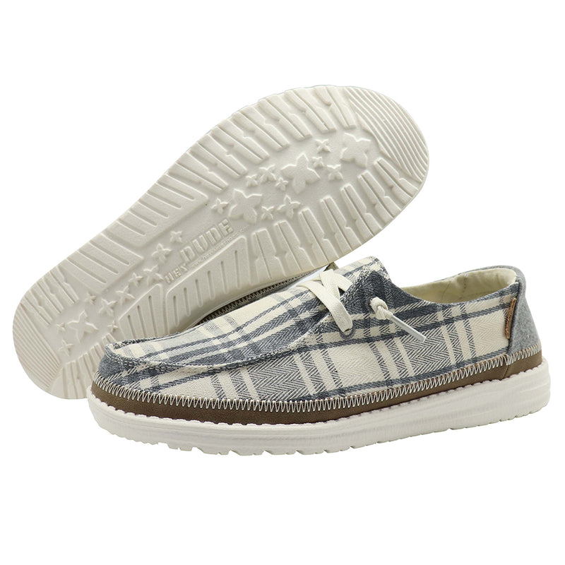 Women's Hey Dude Wendy Plaid Grey