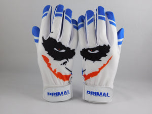 "Cool Blue ""Smiley"" Baseball Batting Gloves"