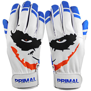 "Youth Cool Blue ""Smiley"" Baseball Batting Gloves"