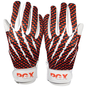 "Red ""Claw Marks"" Baseball Batting Gloves"