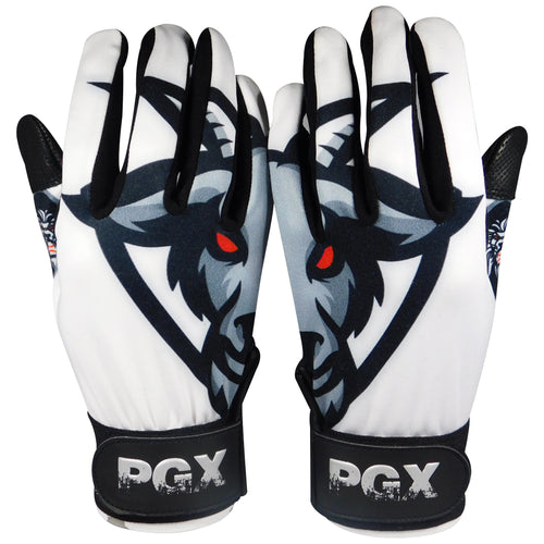 G.O.A.T.  Youth Batting gloves White/ Black