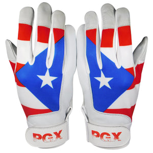 Youth Puerto Rico Baseball Batting Gloves