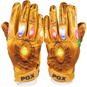"Gold ""Power Stones"" Football Receiver Gloves"
