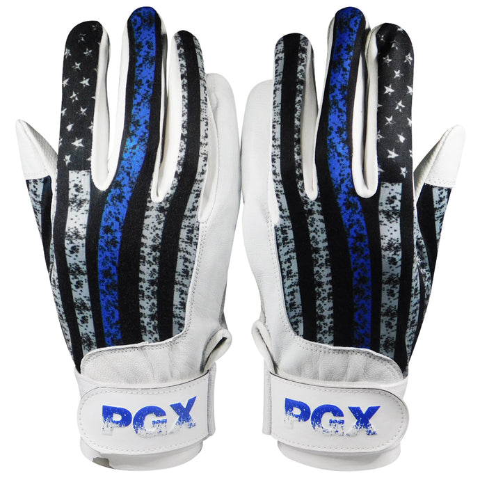 USA Blue Line Baseball Batting Gloves
