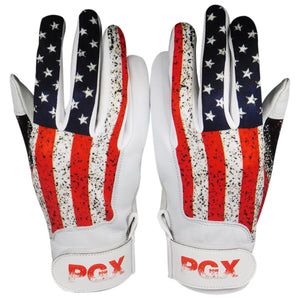 "Youth ""USA Flag"" Baseball Batting Gloves"