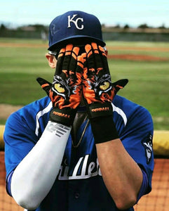 "Youth ""Eye of the tiger"" Baseball Batting Gloves"