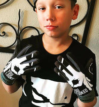 "Youth ""YOU LOOKED"" Batting gloves Black/Grey"