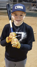 "Gold ""POWER STONES"" Baseball Batting Gloves"