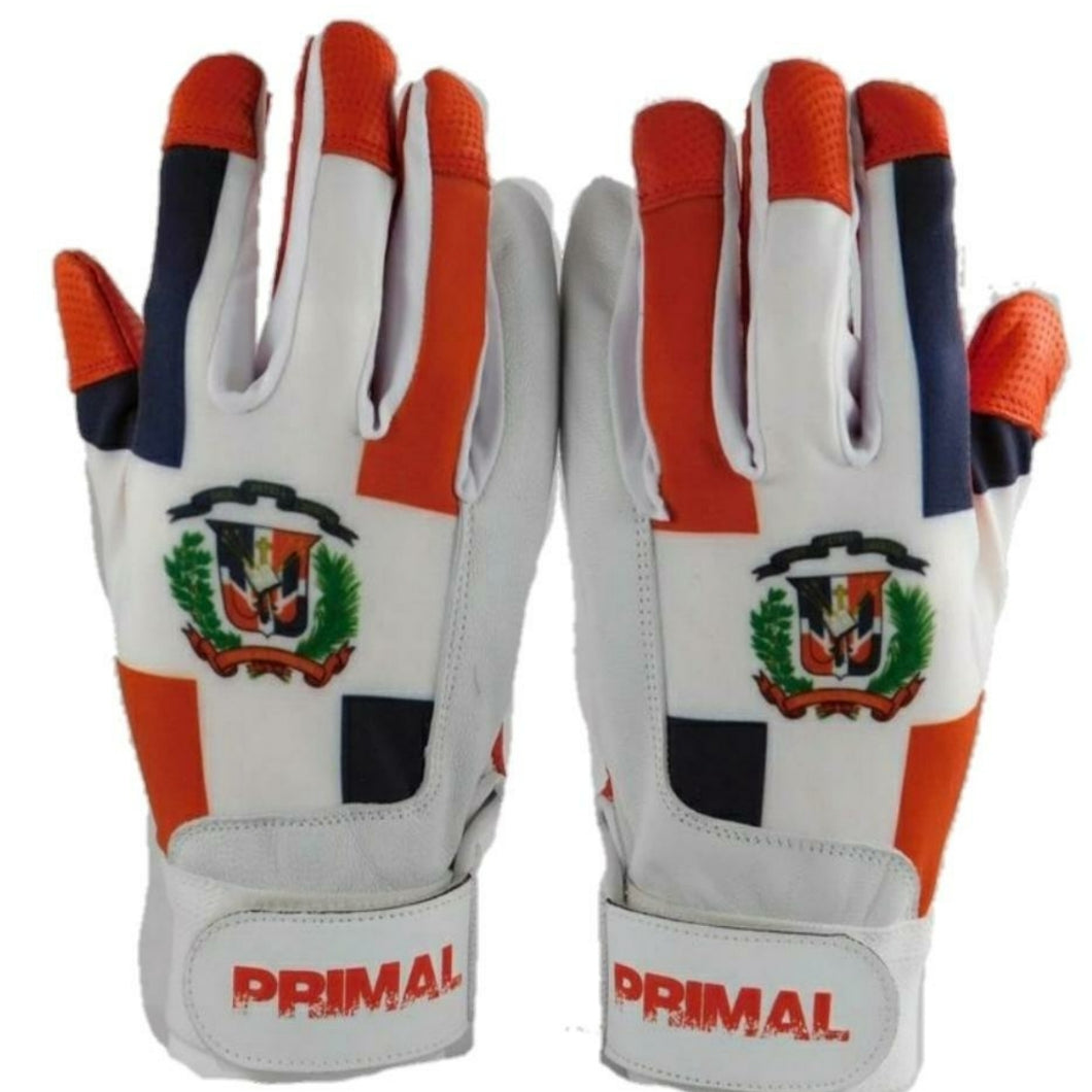Youth Dominican Republic Baseball Batting Gloves