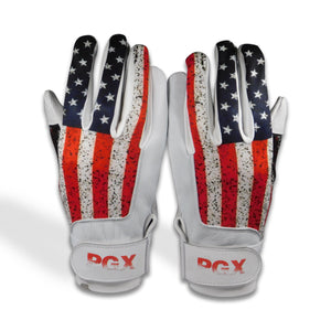 USA Flag Baseball Batting Gloves