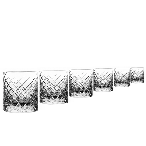 Argyle 6 pcs Set Crystal Whiskey Tumbler Glass