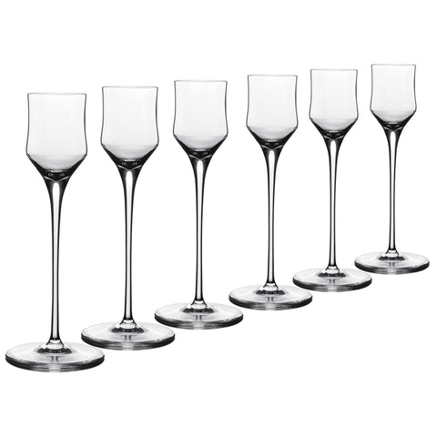 Enigma – 6 pcs Set Liqueur Crystal Stem Glass
