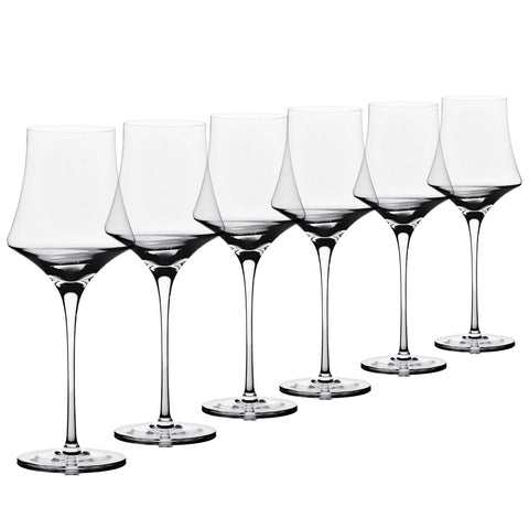 Enigma - 6 pcs Set Red Wine Crystal Stem Glass