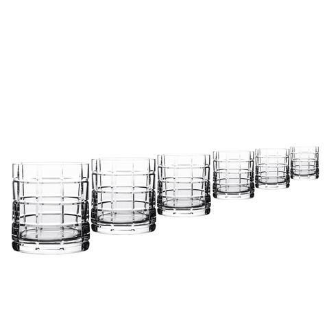 SCACCHI - whiskey crystal glass Set of 6