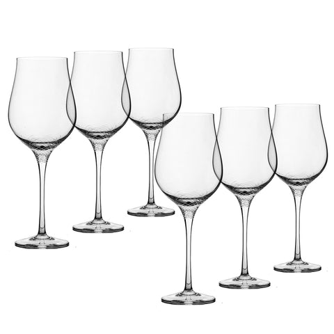 Sera - 6 pcs Set Strong Red Wine Crystal Stem Glass