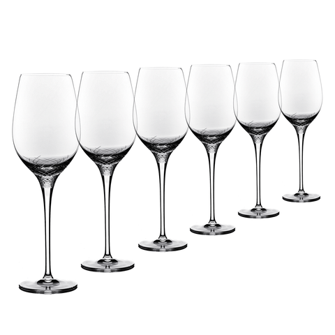 Sera - 6 pcs Set White Wine Crystal Stem Glass