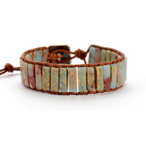 Homemade Turquoise Leather Bracelet