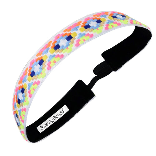 Alpaca Punch | Neon, White | 1 Inch Sweaty Bands