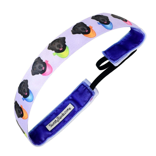 Animal | Furever Yours | Purple | 1 Inch Sweaty Bands