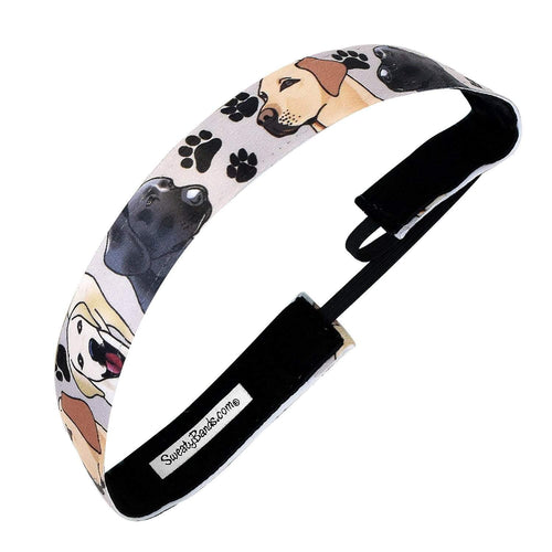 Animal | Labrador Love | Grey | 1 Inch Sweaty Bands