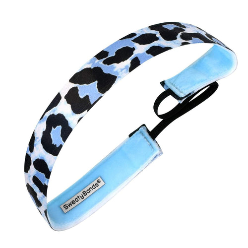 Animal | Speed of a Cheetah | Blue, Black | 1 Inch Sweaty Bands