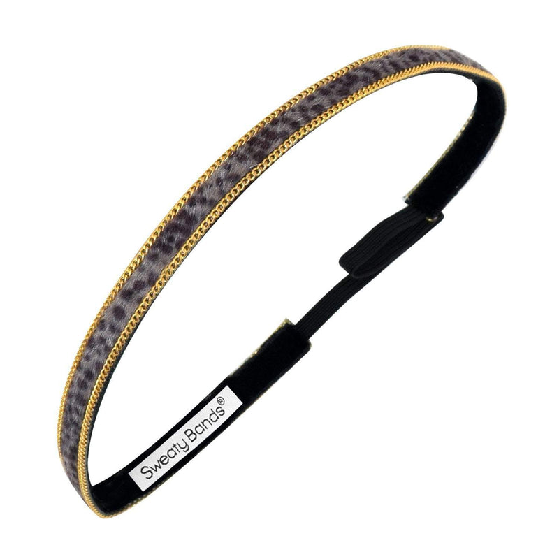 Bling It | Cheetah | Black, Gold | 3/8 Inch Sweaty Bands