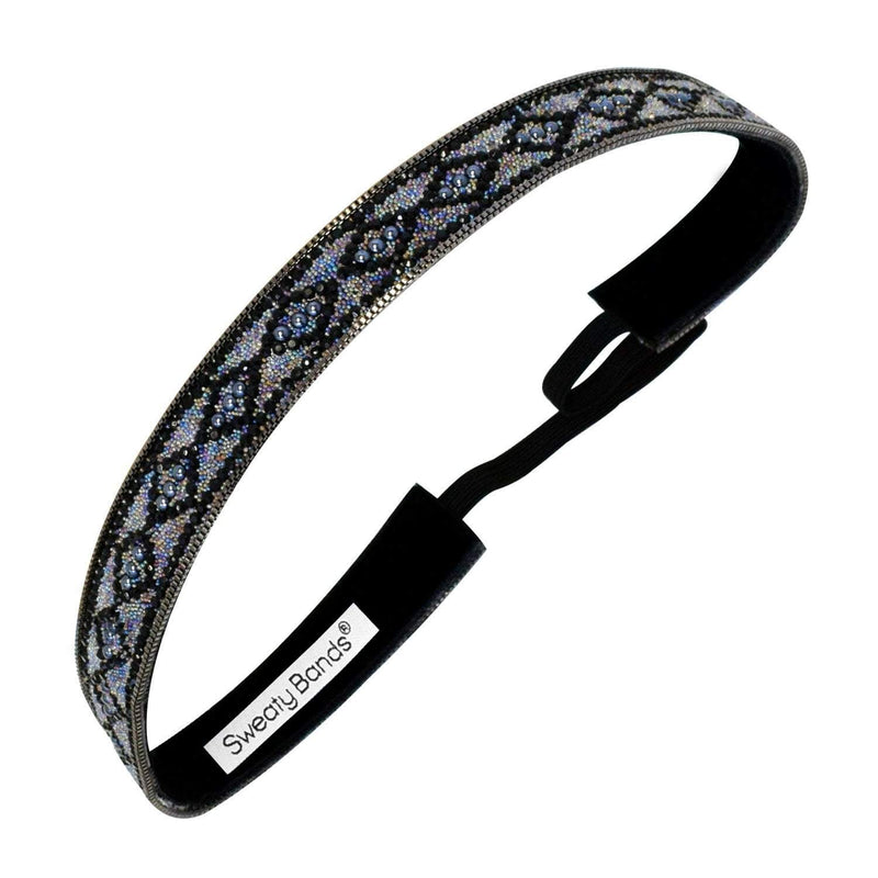 Bling It | Diamond Goals | Black, Iridescent | 5/8 Inch Sweaty Bands