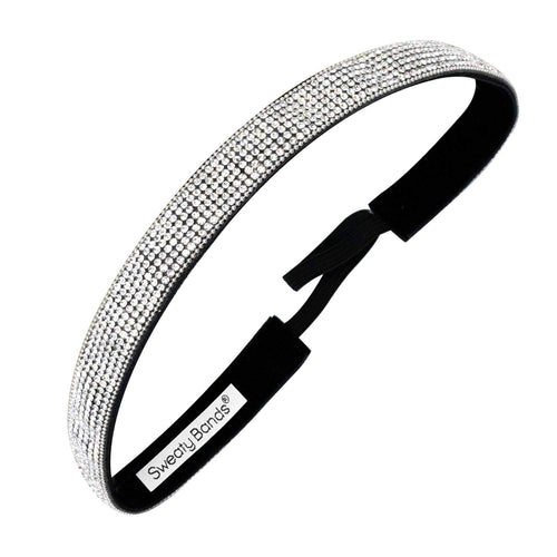 Bling It | Girl's Best Friend | Silver | 5/8 Inch Sweaty Bands