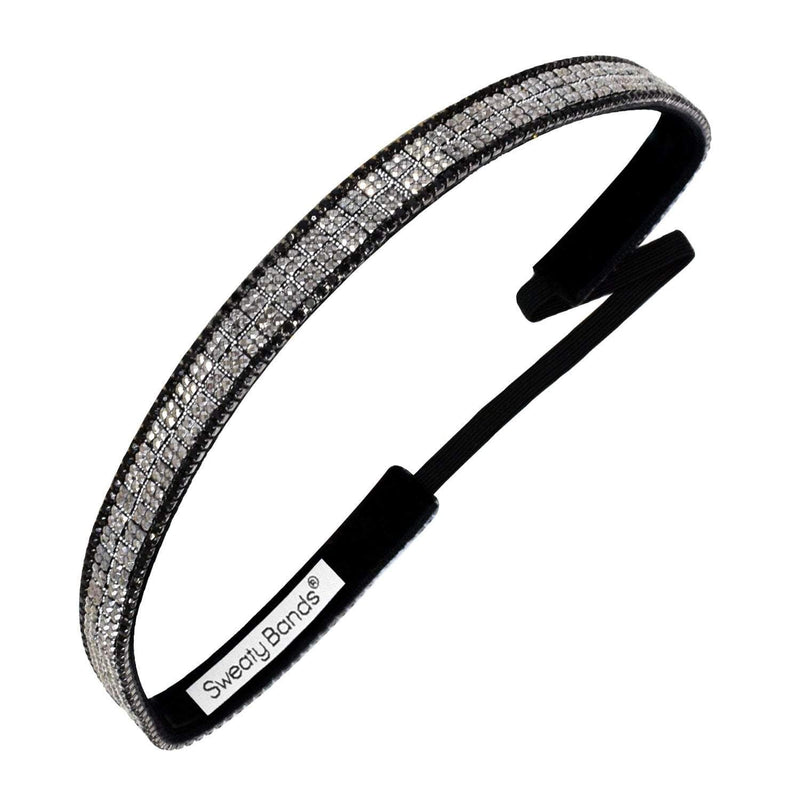 Bling It | Glint of Hope | Silver, Black | 5/8 Inch Sweaty Bands