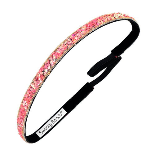Bling It | Less Bitter, More Glitter | Pink | 3/8 Inch Sweaty Bands