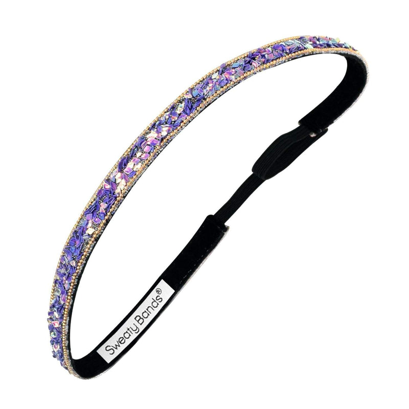 Bling It | Less Bitter, More Glitter | Purple | 3/8 Inch Sweaty Bands
