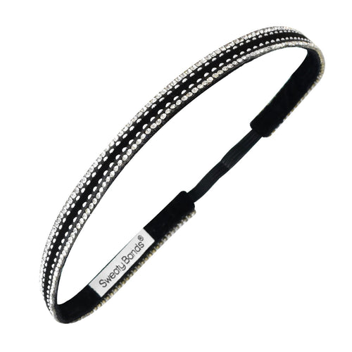 Bling It Rock On Black Sweaty Bands Non Slip Headband