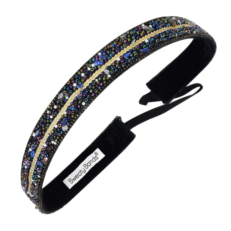 Bling It You Deserve a Crown, Blue Sweaty Bands Non Slip Headband