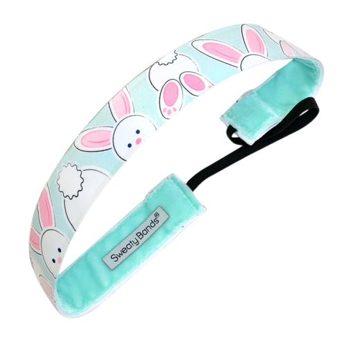 Bunny Business Blue Sweaty Bands Non Slip Headband