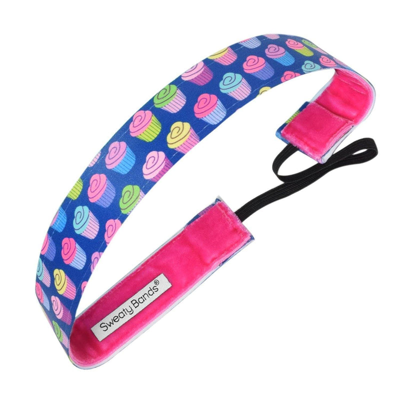 Cakewalk Blue, Multi Sweaty Bands Non Slip Headband