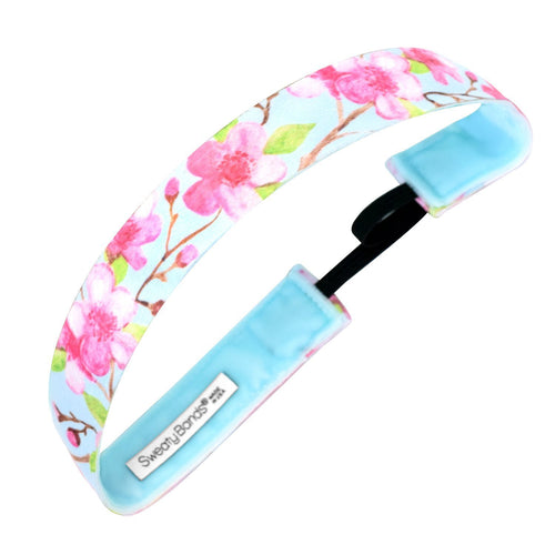 Cherry Blossom Season | Light Blue, Pink | 1 Inch Sweaty Bands