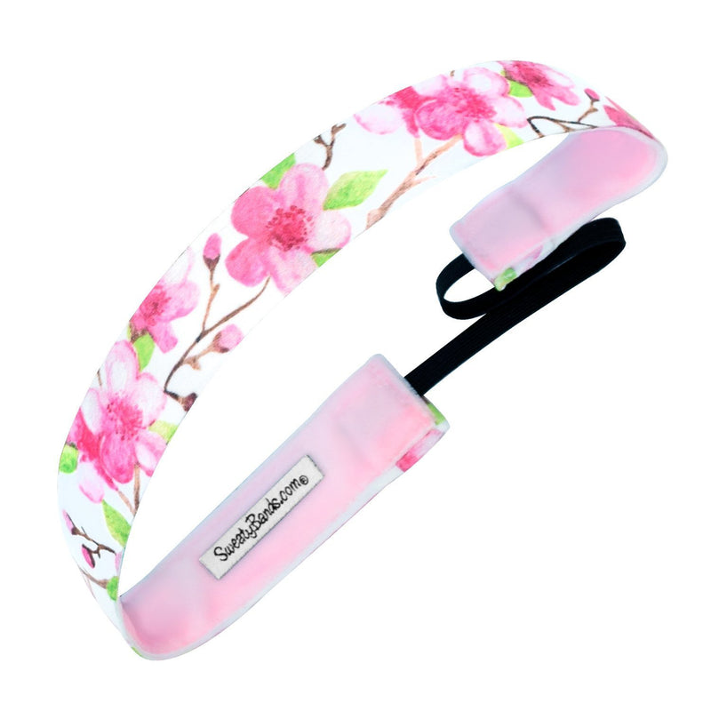 Cherry Blossom Season | White, Pink | 1 Inch Sweaty Bands