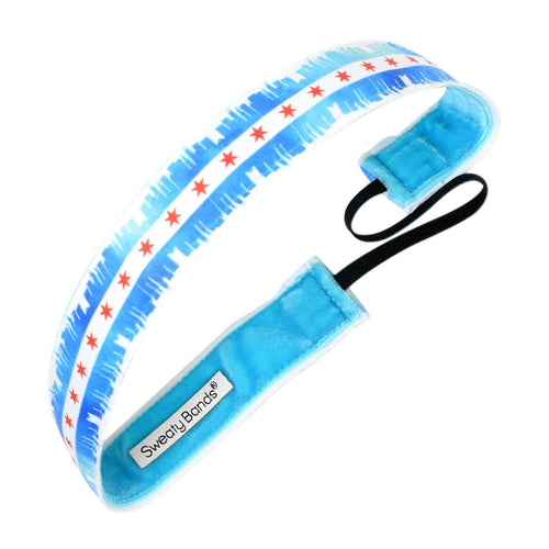 Chicago City Blue Sweaty Bands Non Slip Headband