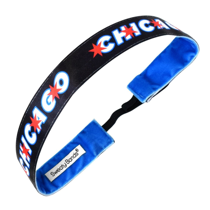 City Pride | Chicago | Black | 1 Inch Sweaty Bands