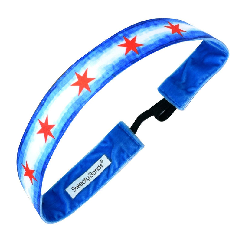 City Pride | Chicago Watercolor | Blue | 1 Inch Sweaty Bands