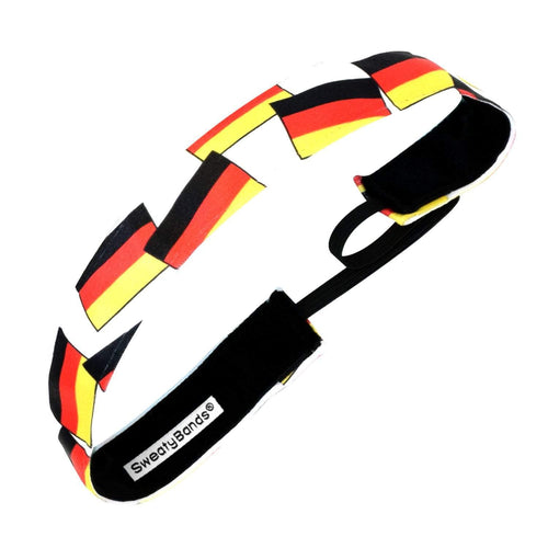 Country Pride | Germany Flags | Black, Red, Gold | 1 Inch Sweaty Bands