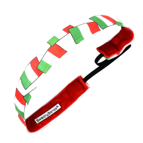 Country Pride | Italy Flags | Green, White, Red | 1 Inch Sweaty Bands