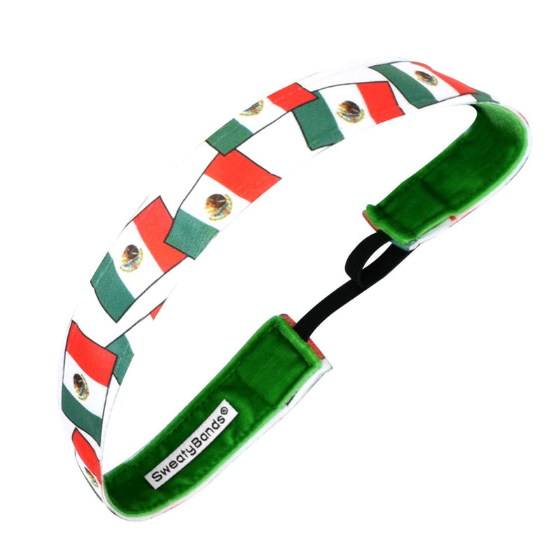 Country Pride | Mexico Flags | Green, White, Red | 1 Inch Sweaty Bands
