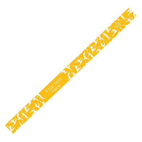 Custom Dance Yellow Sweaty Bands Non Slip Headband
