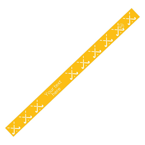 Custom Field Hockey Yellow Sweaty Bands Non Slip Headband