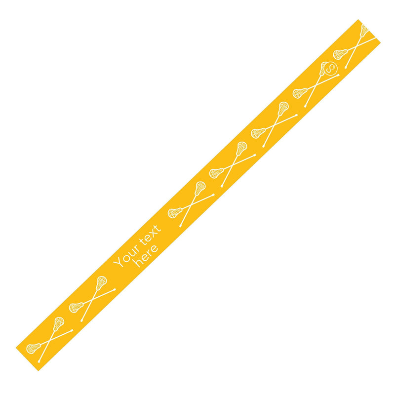 Custom Lacrosse Yellow Sweaty Bands Non Slip Headband